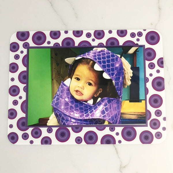 Agate Dot Lavender Self-Stick Picture Frames Collection