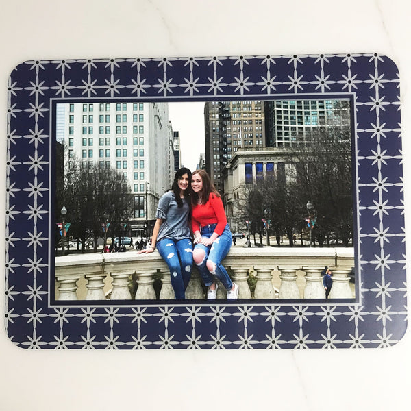 Grayscape Navy Self-Stick Picture Frames Collection