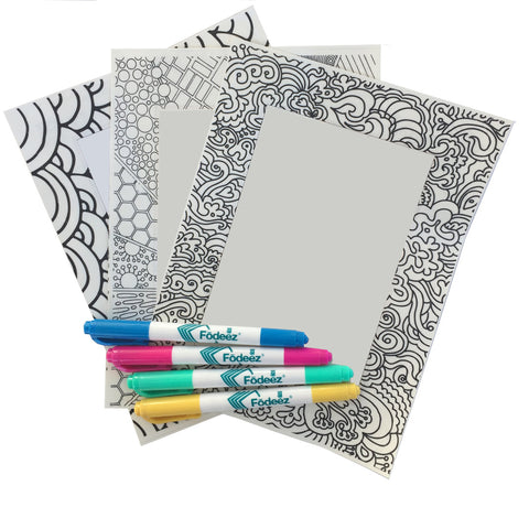 4 x 6 Colorable Adhesive Frames / Dry Erase Boards with Markers - Fodeez® Adhesive Display Frames / Dry Erase Boards  - 1