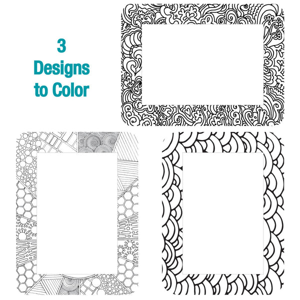 4 x 6 Colorable Adhesive Frames / Dry Erase Boards with Markers - Fodeez® Adhesive Display Frames / Dry Erase Boards  - 12