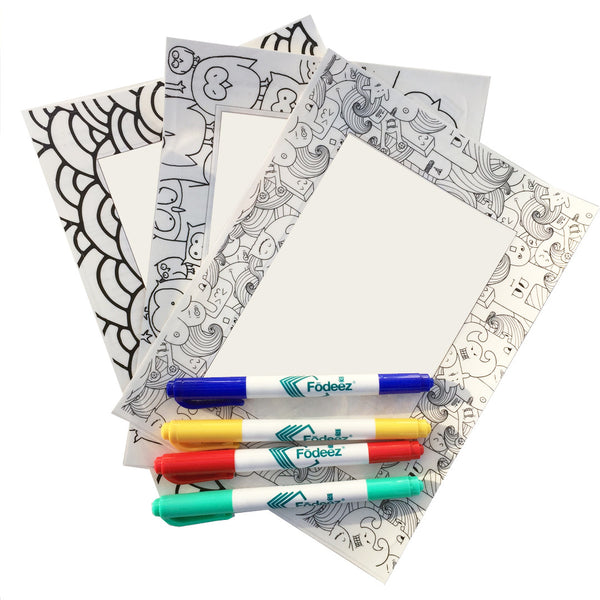 4 x 6 Colorable Adhesive Frames / Dry Erase Boards with Markers - Fodeez® Adhesive Display Frames / Dry Erase Boards  - 2