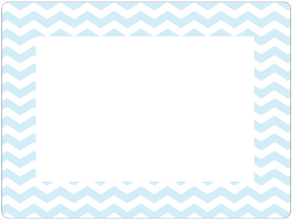 4 x 6 Baby Pastel Chevron Fodeez® Frames - Pack of 5 - Fodeez® Adhesive Display Frames / Dry Erase Boards  - 10