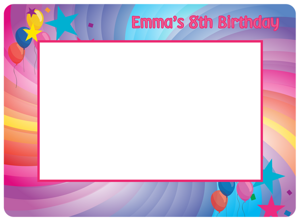 Custom Fodeez Frames for Birthdays - Fodeez® Adhesive Display Frames / Dry Erase Boards  - 1