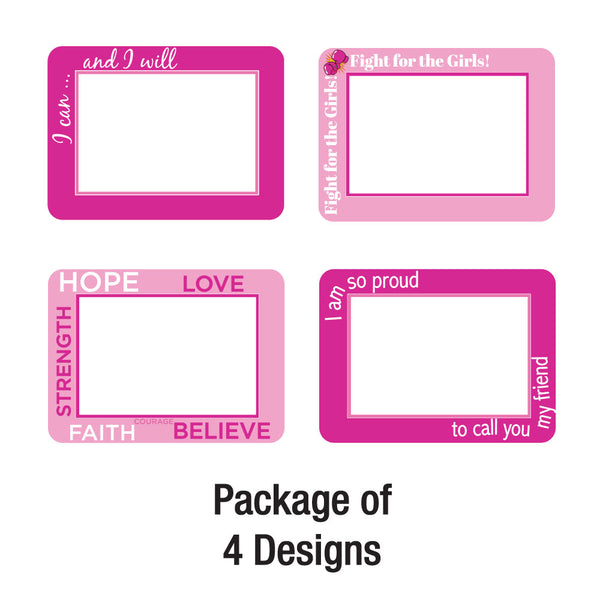 Breast Cancer Support Adhesive Frames