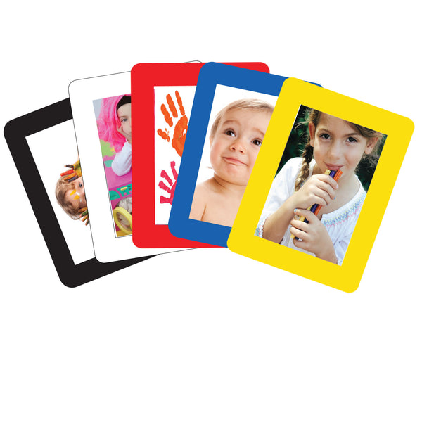 Solid Primary Assortment Adhesive Frames