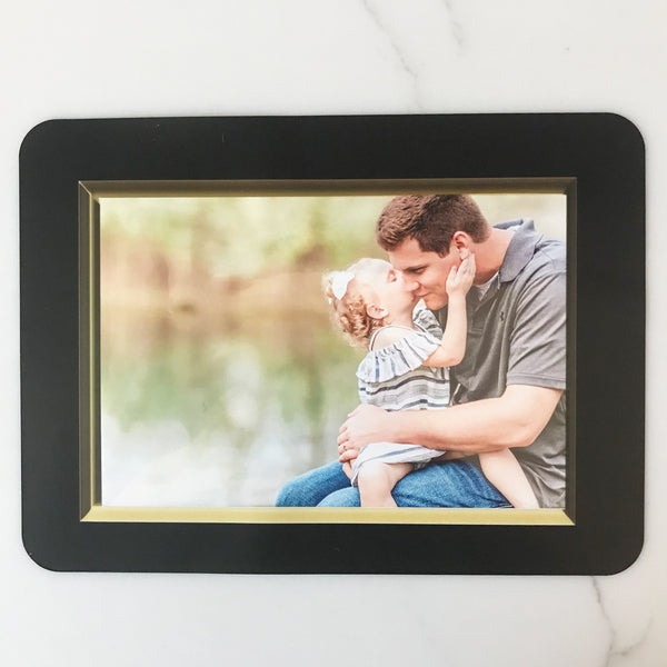 Beveled Gold Self-Stick Picture Frames Collection