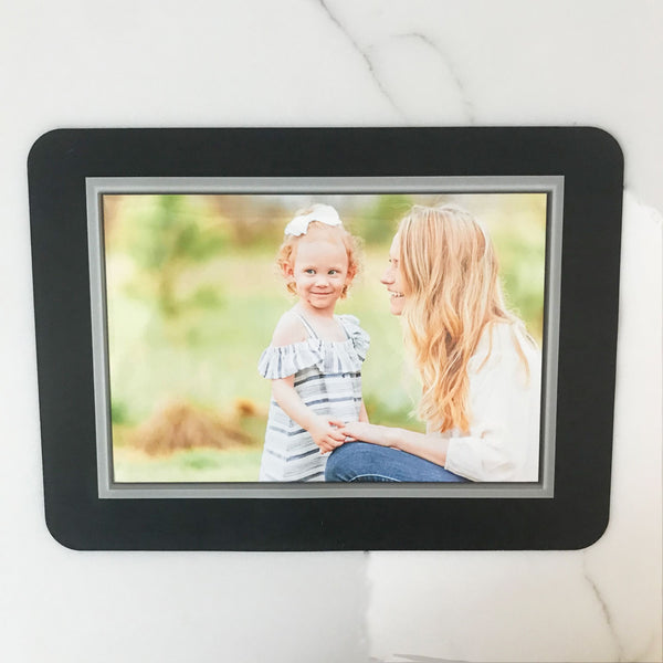 Beveled Silver Self-Stick Picture Frames Collection