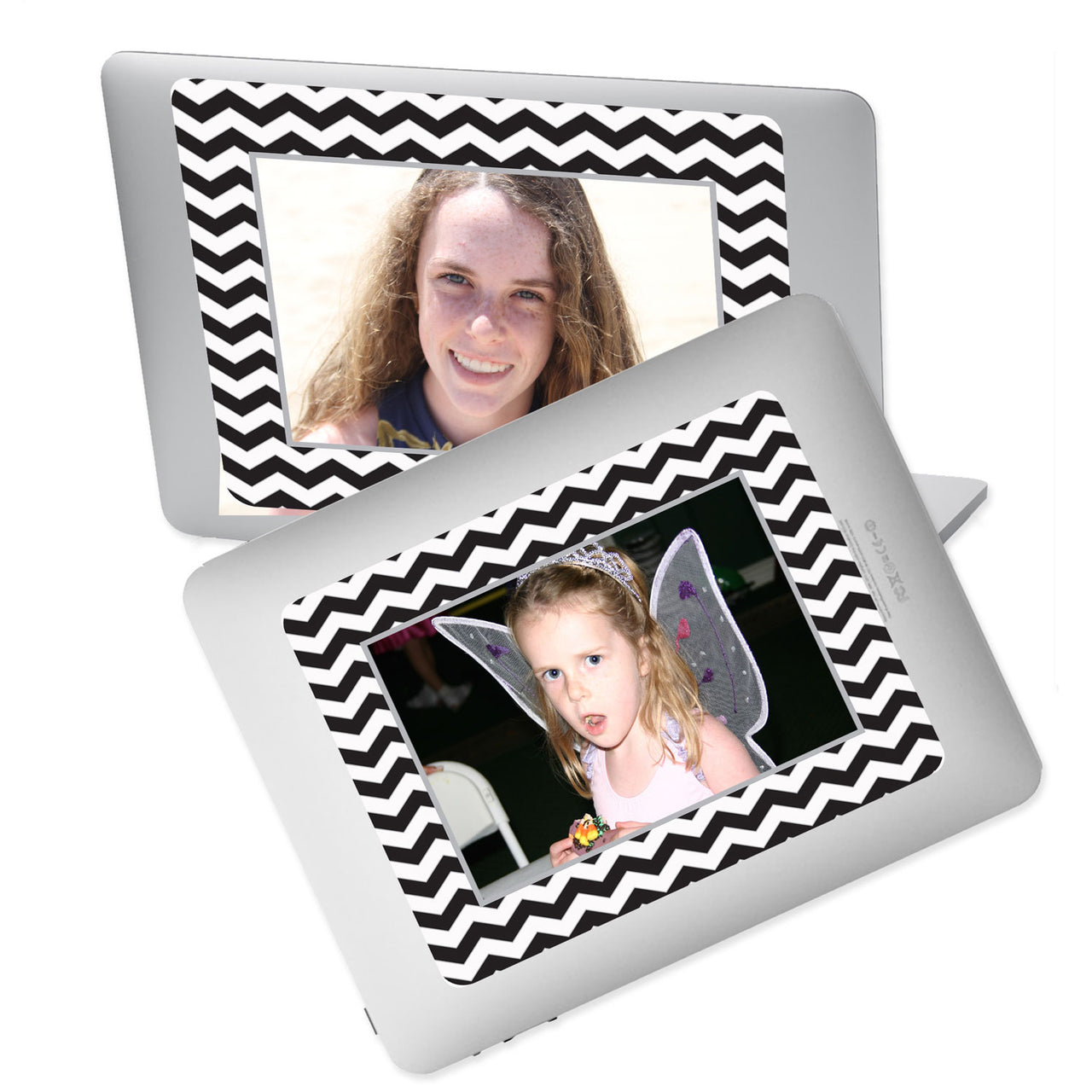 Chevron Black Self-Stick Picture Frames Collection