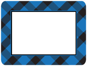 Buffalo Check Blue Self-Stick Picture Frames Collection