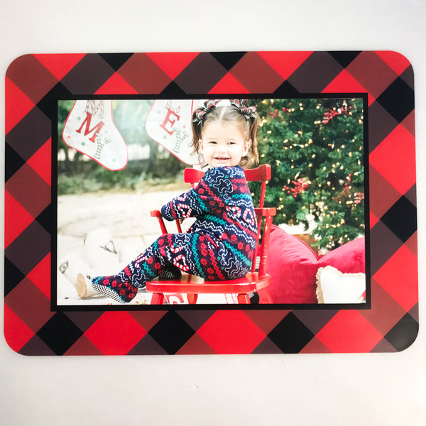Buffalo Check Plaid Red & Black Self-Stick Picture Frames Collection