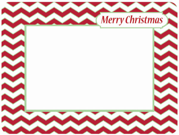 Merry Christmas Red Chevron Self-Stick Picture Frames Collection