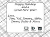 Fodeez Peel & Stick Holiday Card - Plaid - Fodeez® Adhesive Display Frames / Dry Erase Boards  - 8