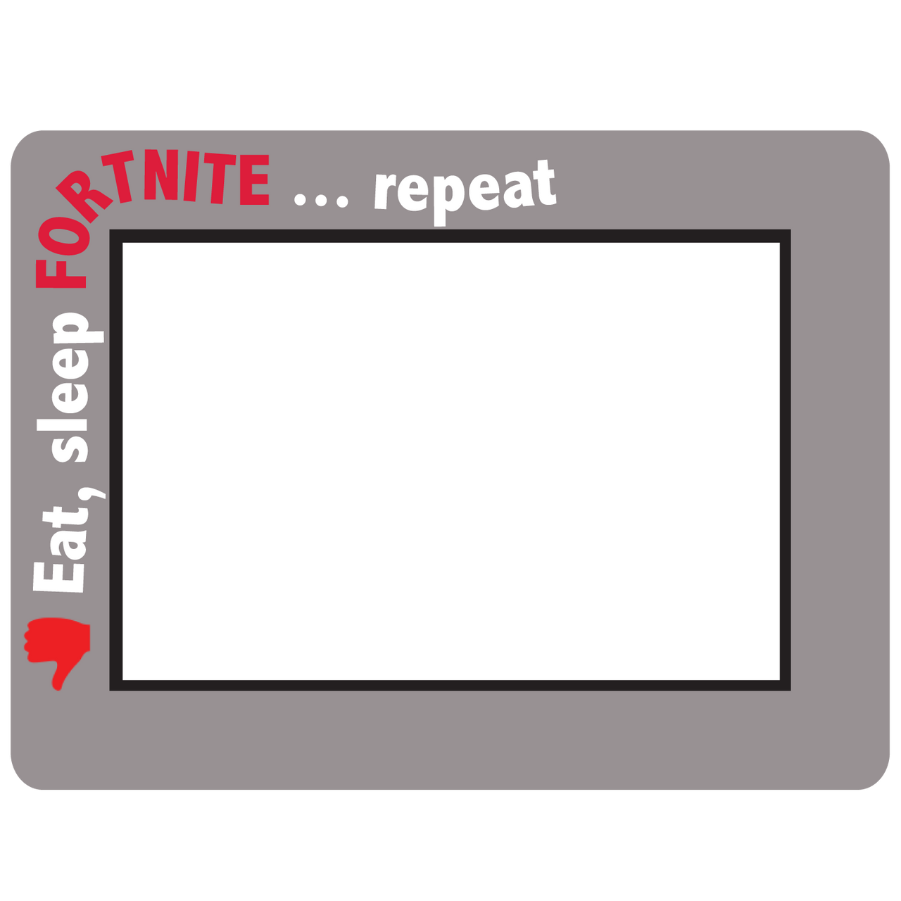 Fortnite Themed Dry Erase Adhesive Picture Frames Collection
