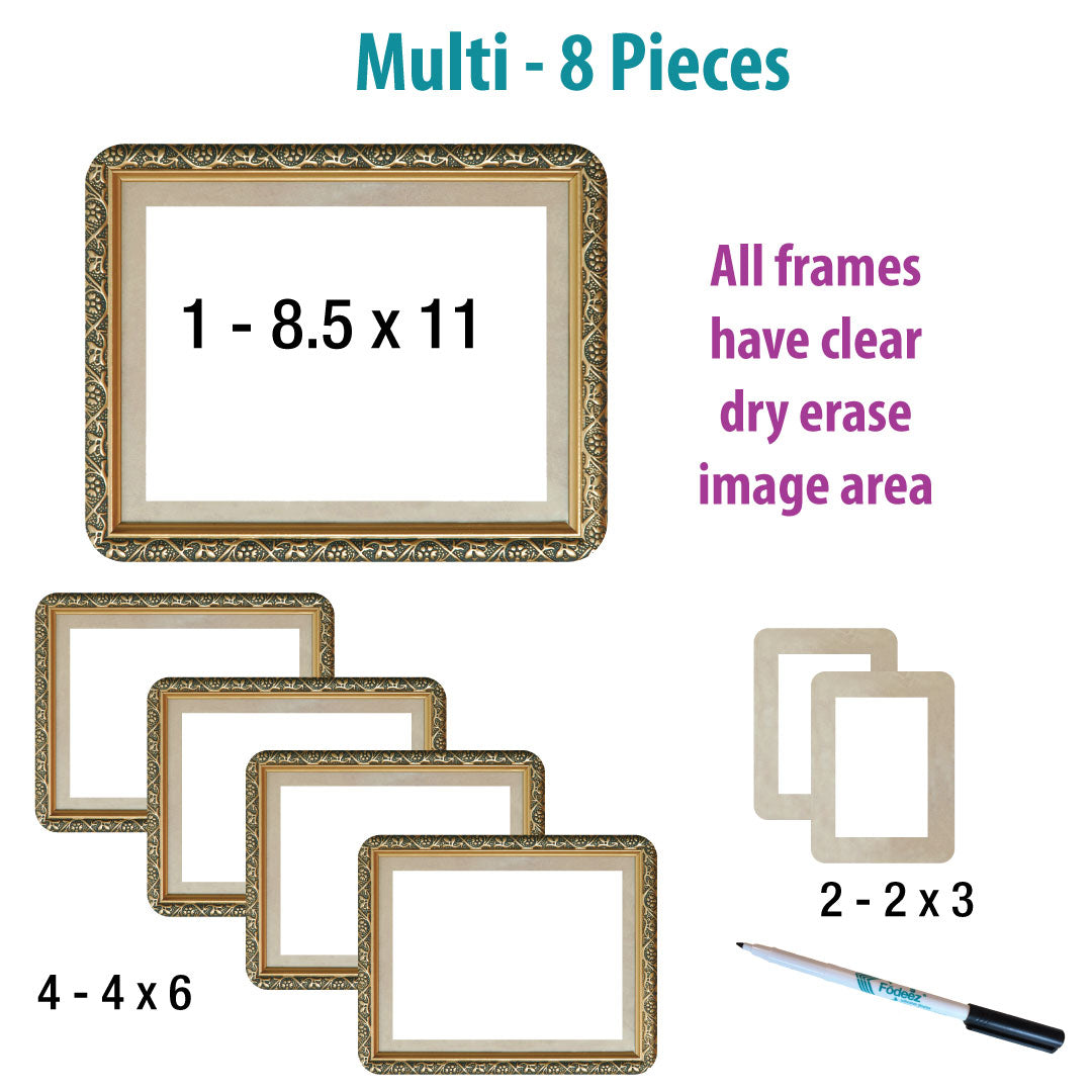 Gilded Self-Stick Picture Frames Collection