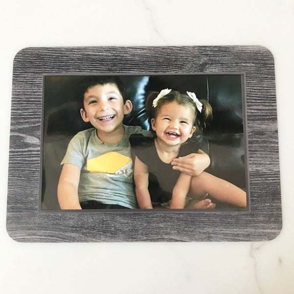 Gray Wood Plank Self-Stick Picture Frames Collection