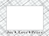 Fodeez Peel & Stick Holiday Card - Plaid - Fodeez® Adhesive Display Frames / Dry Erase Boards  - 5