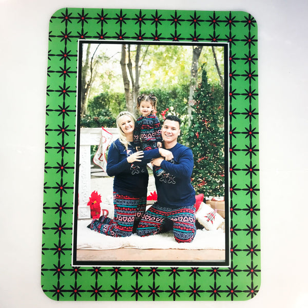 Grayscape Green & Black Self-Stick Picture Frames Collection