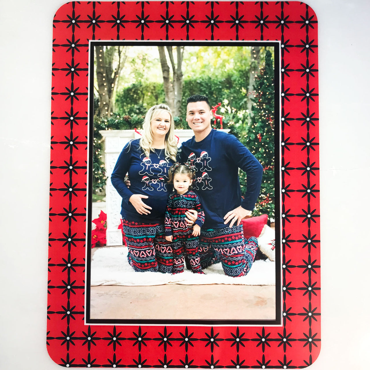 Grayscape Black & Red Self-Stick Picture Frames Collection