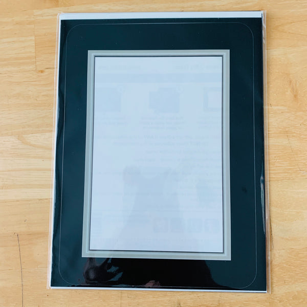 """Seconds"" Black / Silver Bevel Self-Stick Picture Frames"