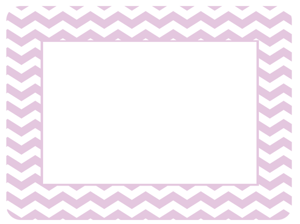 4 x 6 Baby Pastel Chevron Fodeez® Frames - Pack of 5 - Fodeez® Adhesive Display Frames / Dry Erase Boards  - 13