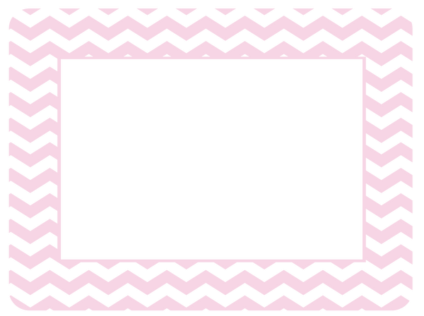 4 x 6 Baby Pastel Chevron Fodeez® Frames - Pack of 5 - Fodeez® Adhesive Display Frames / Dry Erase Boards  - 11