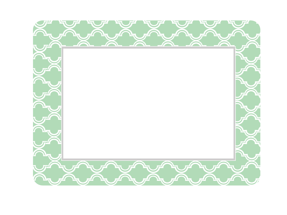 NEW COLORS! Multi-Pack of Self-Stick Picture Frames in Coronado Patterns