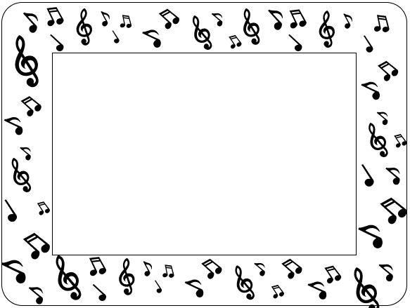 Musical Assortment Adhesive Frames