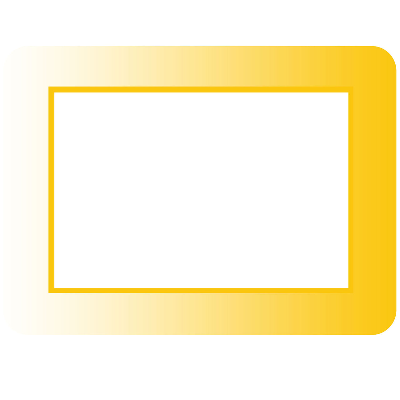 Ombre Mustard Self-Stick Picture Frames Collection