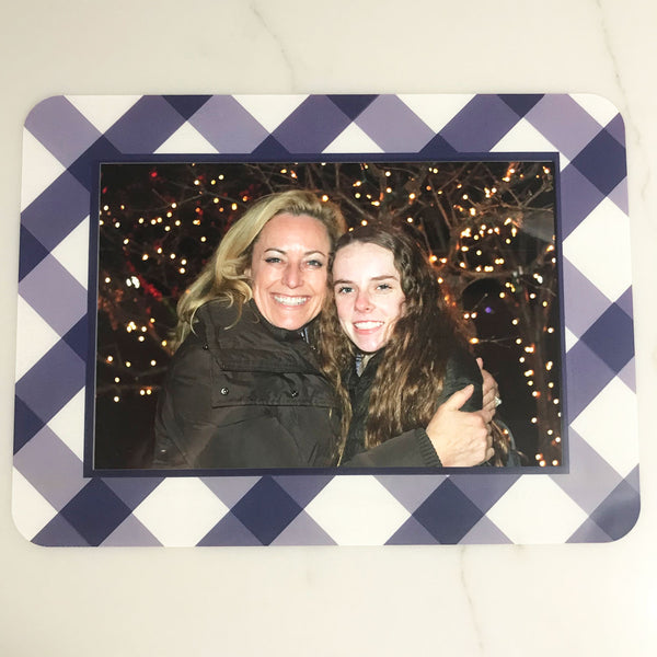 Buffalo Check Navy Self-Stick Picture Frames Collection
