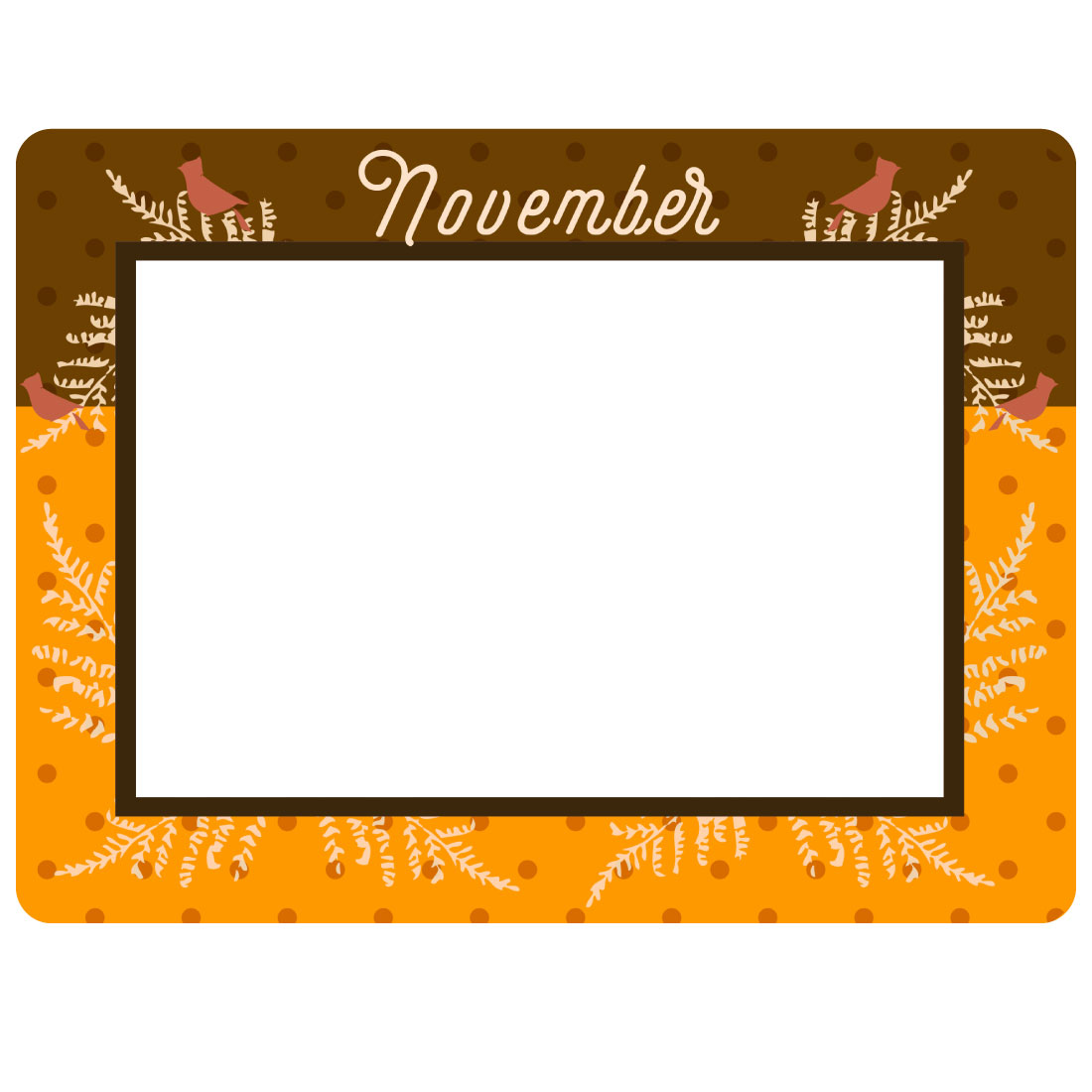 Monthly / Seasonal Theme Dry Erase Adhesive Frames