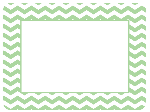 4 x 6 Baby Pastel Chevron Fodeez® Frames - Pack of 5 - Fodeez® Adhesive Display Frames / Dry Erase Boards  - 12