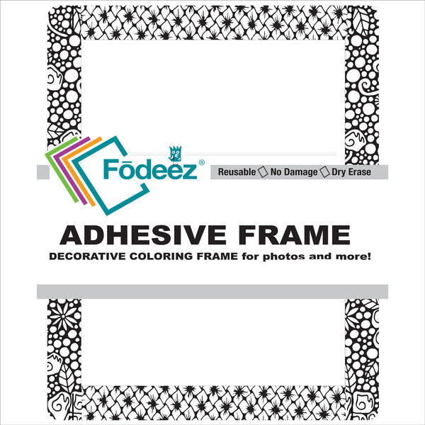 Adult Colorable Adhesive Frame / Dry Erase Board - Fodeez® Adhesive Display Frames / Dry Erase Boards  - 1