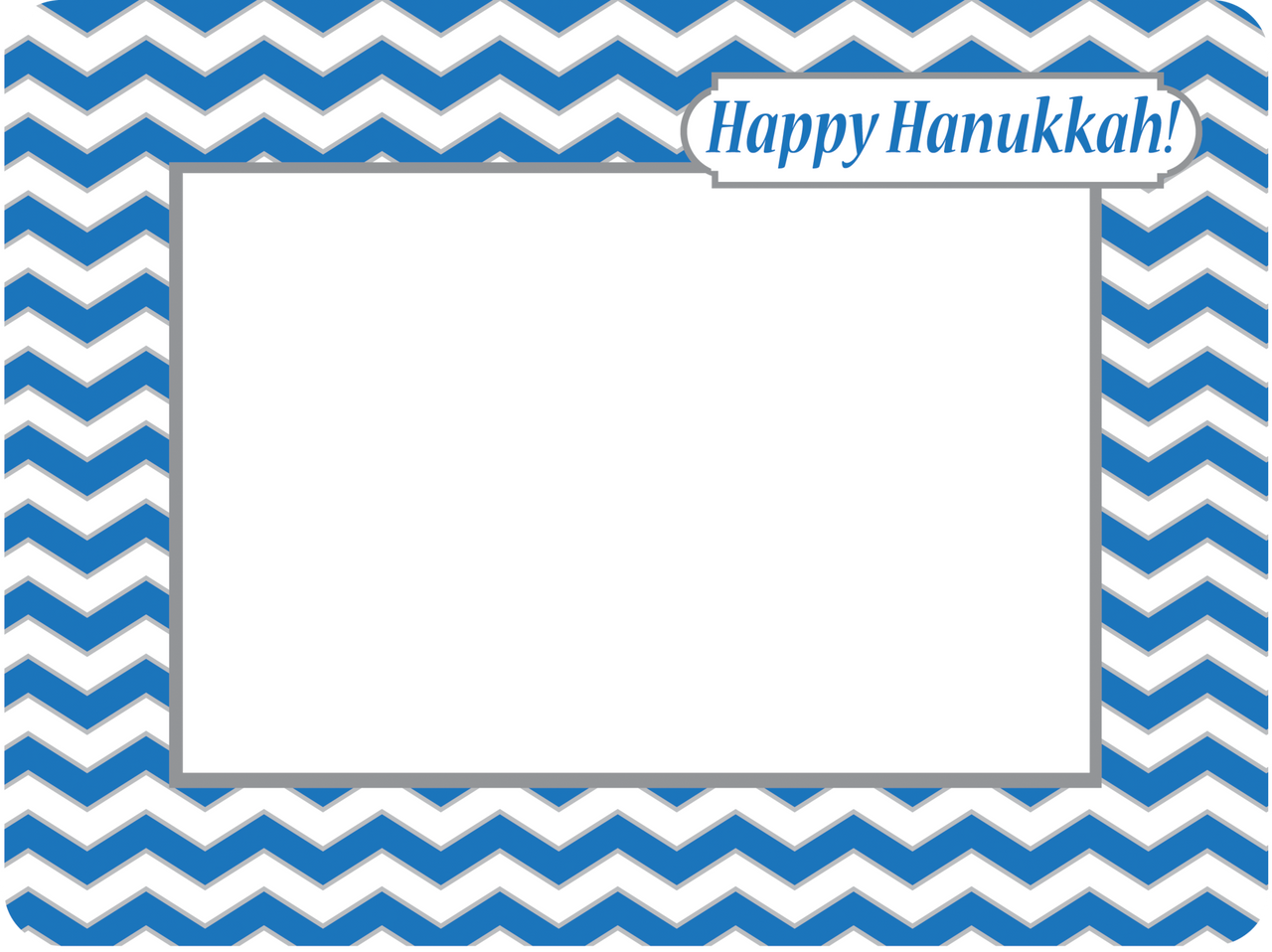 Fodeez Peel & Stick Hanukkah Card - Chevron - Fodeez® Adhesive Display Frames / Dry Erase Boards  - 6