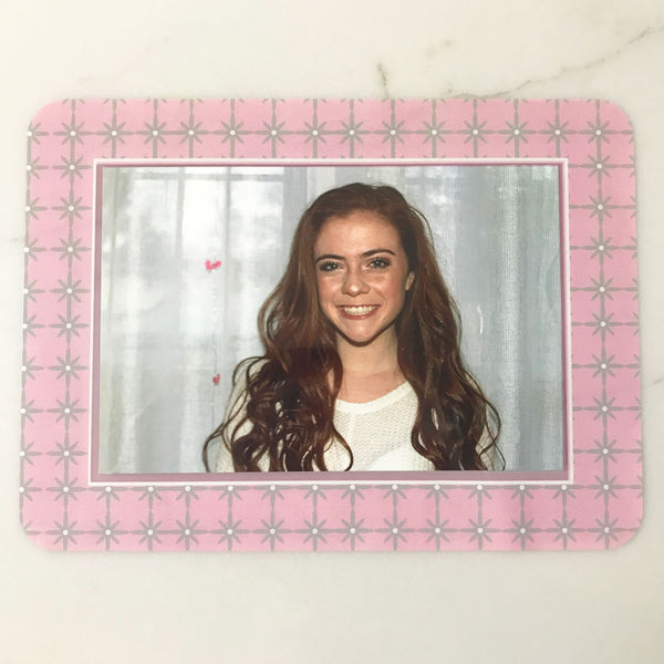 Grayscape Pink Self-Stick Picture Frames Collection