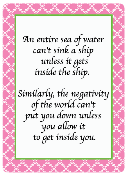 An Entire Sea .... Printable Quote