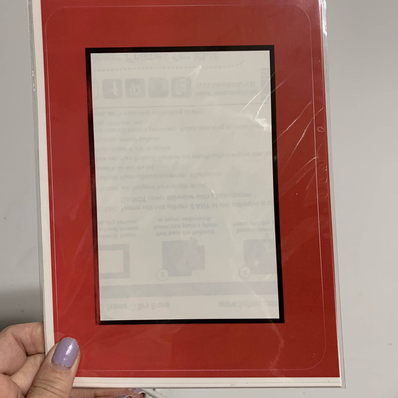 """Seconds"" Red / Black Self-Stick Picture Frames"