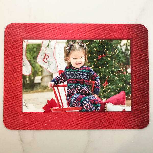 Red Ribbon Self-Stick Picture Frames Collection
