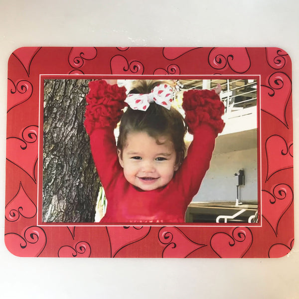 Valentine Hearts - Red Self-Stick Picture Frames Collection