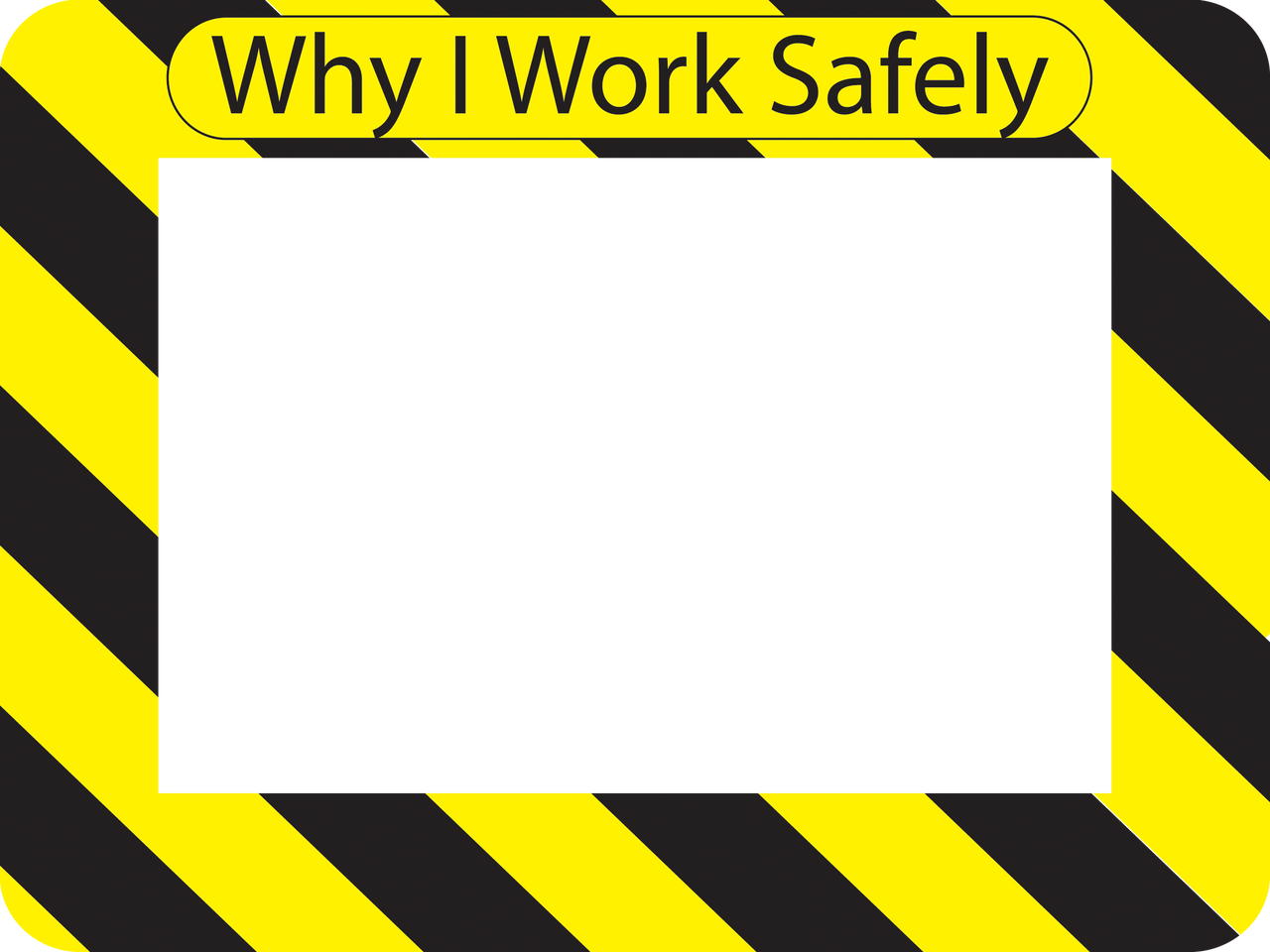 """Seconds"" - Why I Work Safely - Self-Stick Picture Frames"