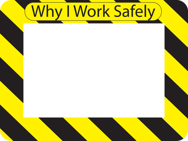 Custom Dry Erase Adhesive Workplace Safety Frames