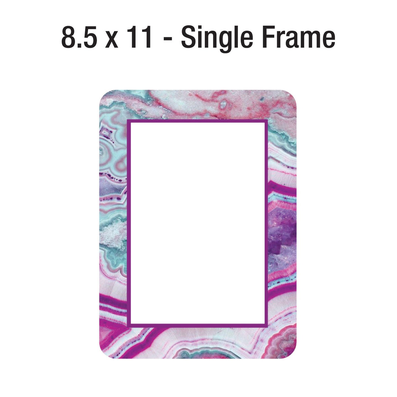 NEW DESIGNS! Multi-Pack of Self-Stick Picture Frames in Agate Patterns