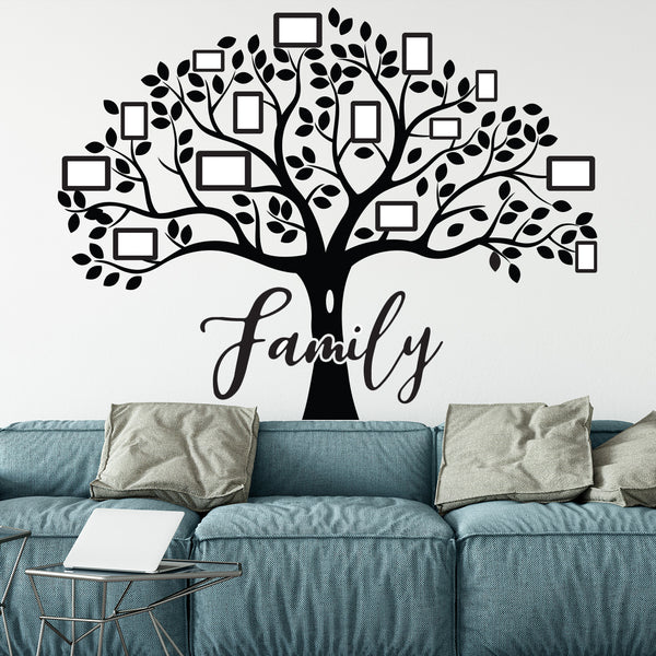 Family Trees - 4 ft. x 5 ft. Vinyl Decal Tree with Family Text