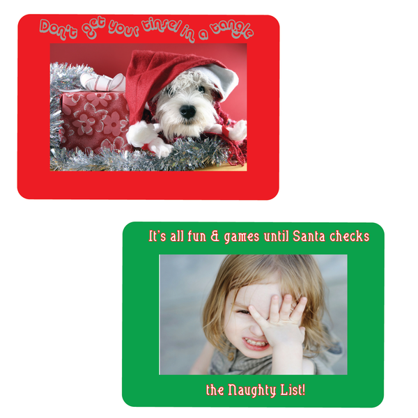 Quirky New Custom Christmas Cards - Fodeez® Adhesive Display Frames / Dry Erase Boards  - 1