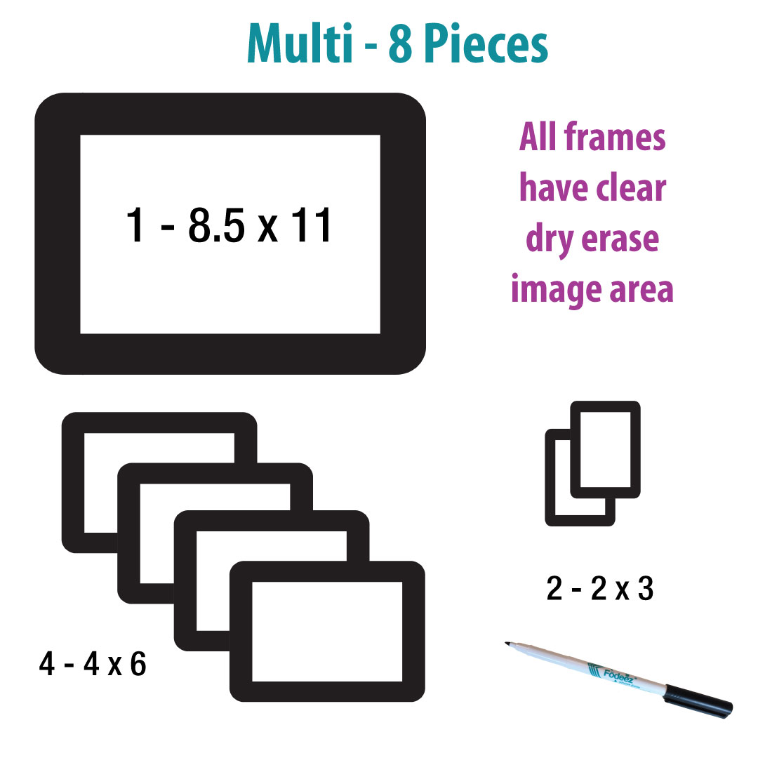 NEW ITEM: Solid Primary Assortment Adhesive Frames