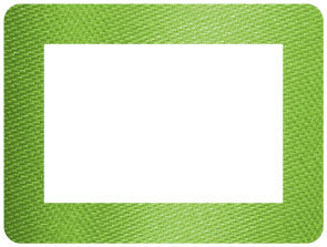 Green Ribbon Self-Stick Picture Frames Collection