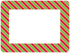 Christmas Striped Self-Stick Picture Frames Collection