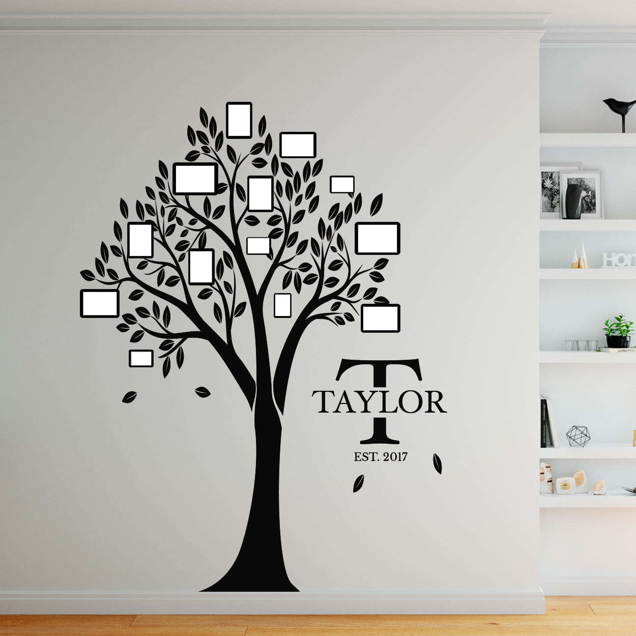 Family Trees - 4 ft. x 6 ft. Vinyl Decal Tree with Last Name