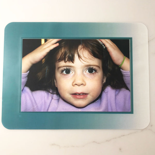 Ombre Teal Self-Stick Picture Frames Collection