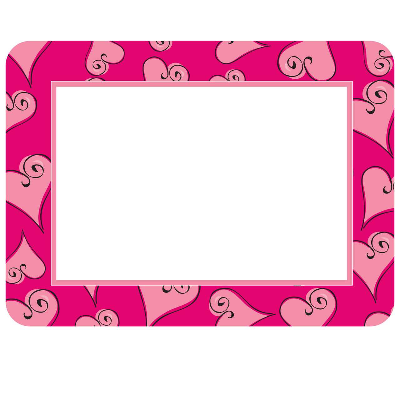 Valentine Hearts - Pink Self-Stick Picture Frames Collection