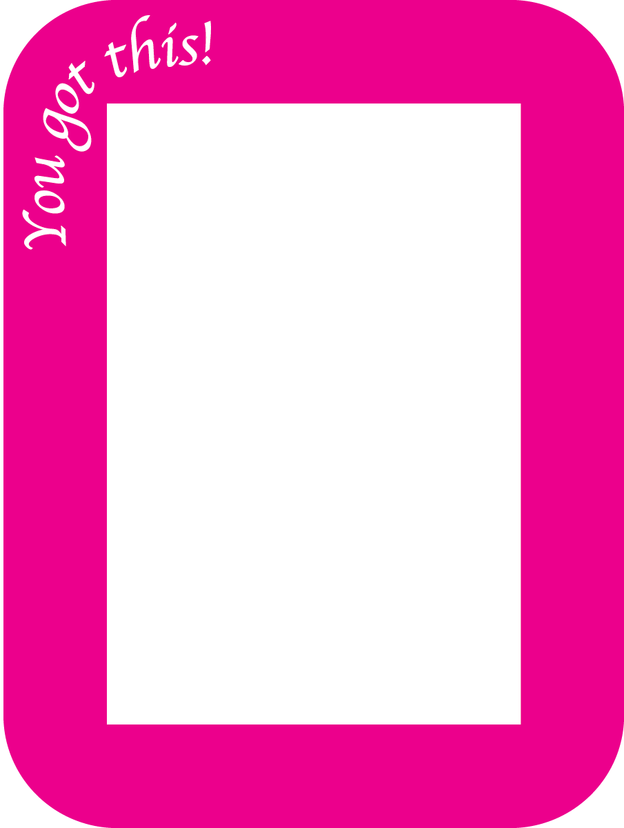 Positive Notes - Pack of 3 - Fodeez® Adhesive Display Frames / Dry Erase Boards  - 12